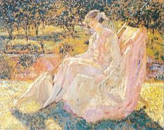 4 Sunbath Impressionist women Frederick Carl Frieseke