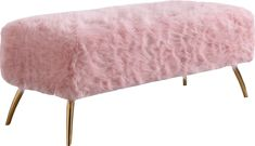 Lowest price online on Meridian Furniture Tiffany Pink Fur Bench - Upholstered Swivel Chairs, Upholstered Storage Bench, Cheap Dining Room Chairs, Meridian Furniture, Wood Storage Bench, Cafe Chairs, Diy Chair, Contemporary Furniture, Accent Decor