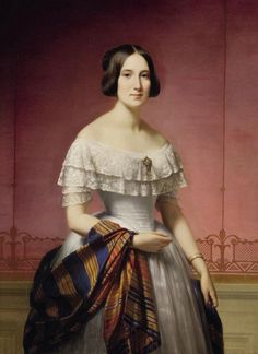 1844 Alexis Joseph Pérignon - Portrait of Madame Edouard Thayer, born Marie de Padoue