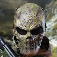 Typhoon Camouflage Hunting Accessories Masks Ghost Tactical Outdoor Military CS Wargame Paintball Airsoft Skull Full Face Mask N Airsoft Full Face Mask, Airsoft Helmet, Camouflage, Paintball Mask, Skull Mask, Skeleton Mask, Hunting Accessories, 3d Prints, Body Armor