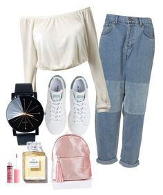 """""""🌷"""" by lozovaya-ekaterina on Polyvore featuring мода, adidas и Charlotte Russe"""