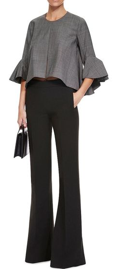 Neu Deconstructed Bell Sleeve Top by Ellery