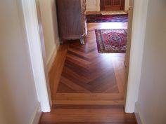 Lyptus floor with simple heartpine border.