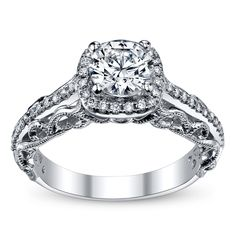 This is the one!!!  Peter Lam Royal Lace 14K White Gold Diamond Engagement Ring Setting