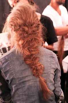 A perfect messy braid at Rachel Zoe