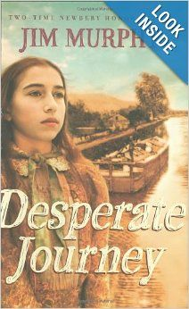 Desperate Journey: Jim Murphy. Maggie and her family struggle to make ends meet after loosing an entire year's salary and two mules in a bet. It is the story of overcoming adversity and struggling to survive when the odds are stacked against you in a hard time. Reading Level: 4th- 7th grade. Themes: culture , inequalities, and early exploration and settlements.