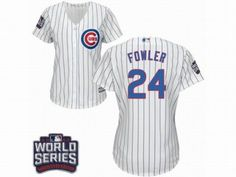 4e99e833a9d ... 24 Dexter Fowler White 2016 World Series Bound Jersey Cubs 24 Dexter  Fowler White Flexbase Authentic Collection 2016 World Series Bound Stitched  MLB ...