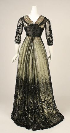 1908 ___ Dress (Ball Gown) ___ Silk, cotton, glass & metallic thread ___ American ___ at The Metropolitan Museum of Art ___ photo 3