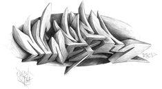 3d graffiti sketch - Buscar con Google