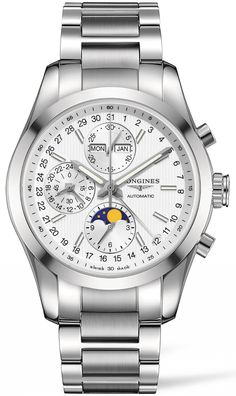 Longines Watch Conquest Classic Moonphase Chronograph #basel-15 #bezel-fixed…