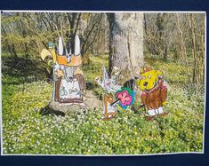 Oppilaat piirsivät mallista Mauri Kunnaksen Koirien Kalevala-kirjasta haluamansa hahmot ja valitsivat mieleisensä Suomi-maiseman, joihin niitä kiinniteltiin. Tykkäsivät työstä tosi paljon! (Alakoulun aarreaitta FB -sivustosta / Satu Juslenius) Art Lessons, Nature, Painting, Art, Arts And Crafts