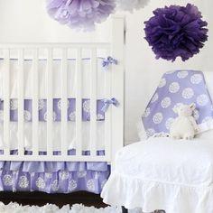 Periwinkle Bloom Baby Bedding Set