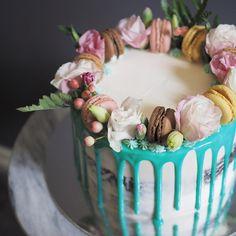 Floral high tea themed birthday cake #bakeyousmile