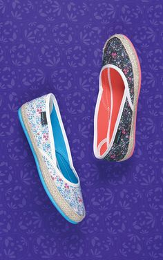 Rosehip 2 floral canvas shoes   Moshulu