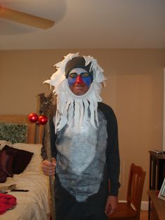Chris' Rafiki costume I made