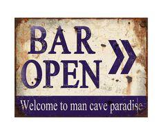 Placa Decorativa Bar Open - 30X40cm | Westwing - Casa & Decoração