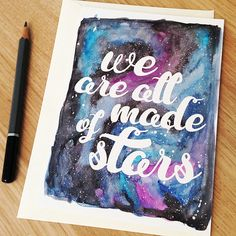 We Are All Made of Stars  Postcard by sarahfrancesart on Etsy, £1.50