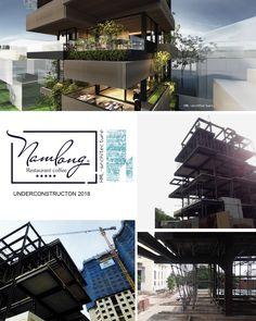HML-architecture | Nhà hàng Nam Long [đang.xây] | Kiến Việt net Steel House, Restaurant, Architecture, Arquitetura, Diner Restaurant, Restaurants, Architecture Design, Dining