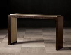 Nella Vetrina Khan Luxury Italian Console in Mocha Oak Wood