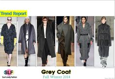 Grey Coat #Fashion Trend for Fall Winter 2014 #FW2014 #Fall2014Trends