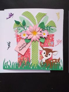 Here I offer you a congratulatory card made in elaborate handwork. Size x The card comes with matching white insertion blade and an envelope envelope in a clear sleeve. Marianne Design Cards, Birthday Cards, Happy Birthday, Envelope, Stencils, Card Making, Presents, Etsy, Frame