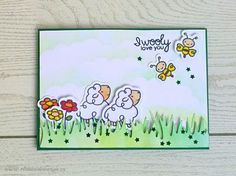 Wooly Love You card by Monica Vladoi - Paper Smooches - Courteous Cuties