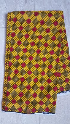 Items similar to African fabric 6 yards Wholesale African print fabric 6 yards African wax print fabric Ankara fabric African materials tribal yellow red on Etsy