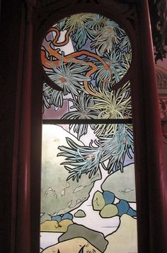 Stained glass by Alfons Mucha. More Deco and Nouveau glass on their own board. Glass: Nouveau and Deco.