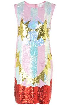 Flash Face Sequin Dress By Louise Gray