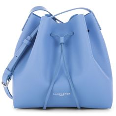 Sky Blue bucket bag, Pur Saffiano, Lancaster Paris. #blue #pastel #