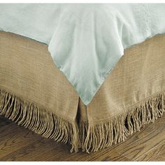 Ballards $79 Fringed Burlap Bedskirt