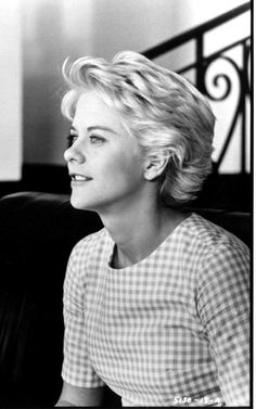 Meg Ryan is Grace Dunavan, former nun, current advocate for the disadvantaged in the town of Summerville in Mad Dog and Archangel out of Vengeance Is Mine (short curly updo for women) Meg Ryan Haircuts, Meg Ryan Hairstyles, Cute Short Haircuts, 2015 Hairstyles, Cool Haircuts, Cute Hairstyles, Short Curly Updo, Curly Hair Styles, Meg Ryan Short Hair