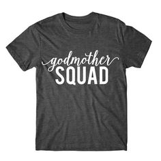 Metallic Gold Print Godmother Shirt Godmother SQUAD by FASHIONY