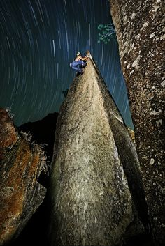 #Bouldering under the stars!