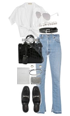 """""""Untitled #1026"""" by marissa-91 ❤ liked on Polyvore featuring RE/DONE, Michael Kors, Yves Saint Laurent, Tod's, With Love From CA, Marc by Marc Jacobs, GiGi New York, Monica Vinader, MANGO and STELLA McCARTNEY"""