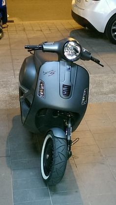 fancy matte black vespa gts 300 super sport vespa. Black Bedroom Furniture Sets. Home Design Ideas