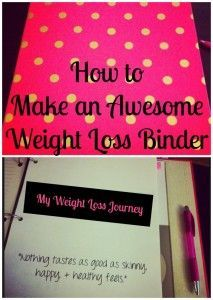 weight loss binder, how to make a weight loss binder, organization for weight…