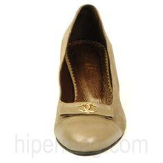 Стилни дамски обувки Balis в цвят каки от висококачествен естествен велур