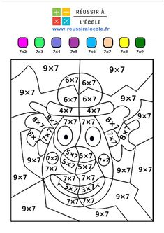 Math Coloring Worksheets, Kids Math Worksheets, Preschool Activities, Mickey Coloring Pages, Kids Homework, Times Tables, Simple Math, Math Fractions, Math For Kids