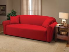 Red Sofa Slipcover