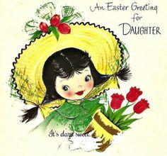 Vintage greeting card 1950s Hallmark girl by DarnSweet on Etsy, £2.50