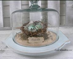 From Drab To Shabby Fab | Transforming A  $0.25 Cheese Dome Into A Beautiful Display Cloche | Tutorial