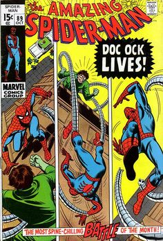 Amazing Spider-Man cover by John Romita vs. Marvel Tales vol. cover by Todd McFarlane. I love this McFarlane covers. To me, his best work in Spider-Man. Marvel Comics Superheroes, Marvel Comic Books, Comic Book Heroes, Marvel Heroes, Comic Books Art, Comic Art, Book Art, Dc Comics, Marvel Villains