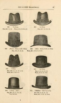 Catálogo de Sombreros para Hombre 1900.