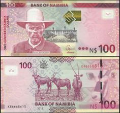 Paper Money: World Coins & Paper Money Namibia 100 Dollars 2012 Unc-p 14 Latest Technology