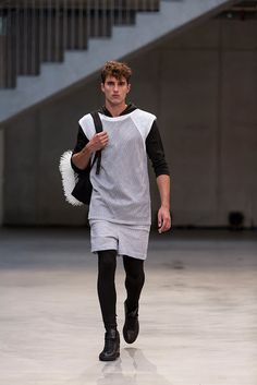 32 Trendy How To Wear Tights In Summer Leggings Grey Fashion, Unisex Fashion, Fashion Outfits, Men's Fashion, Mens Clothing Uk, Mens Leotard, Maxi Skirt Winter, How To Wear Culottes, Men Wearing Dresses