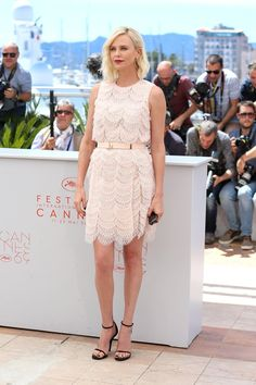 Pin for Later: Every Single Look From the Cannes Film Festival You Just Can't Miss  At a photo call for The Last Face, Charlize Theron went with a pink pastel Givenchy dress.