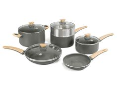 GreenPan Wood-Be 10 Piece Aluminum Ceramic Non-Stick Cookware Set *** To view further for this item, visit the image link.