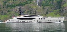 This graceful sweep of form and function in motor yacht design is stunning on both accounts. She is big. She is fast. She is beautiful. And, she is function