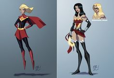 Super-girl/Miss Marvel and Wonder Woman/Miss America - Crossovers Marvel x DC